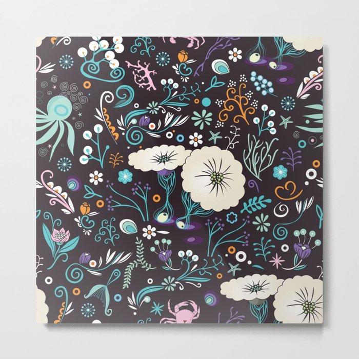 Subsea floral pattern Metal Print