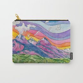 Vibrant Mountains Carry-All Pouch