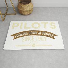 Pilot Proud Aviation Lover Gift Idea Rug