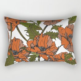 Autumnal flowering of poppies I Rectangular Pillow