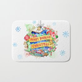 Merry Bookish Christmas Bath Mat