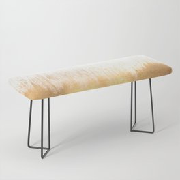 Brushed Gold Bench