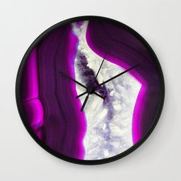 Luminescent Agate Wall Clock