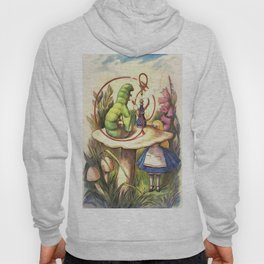 Alice & The Hookah Smoking Caterpillar - Alice In Wonderland Hoody