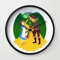 oz Wall Clocks featuring Oz by Kyrstin Avello