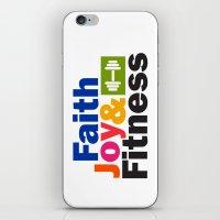 fitness iPhone & iPod Skins featuring Faith Joy & Fitness by Maria Faith Garcia