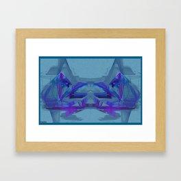 Frakblot Blue Framed Art Print