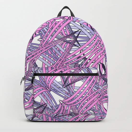 Web in pink and grey Backpack