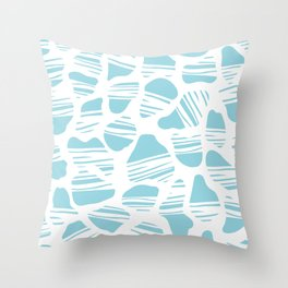 Okapi Animal Print [Island Blue] Throw Pillow