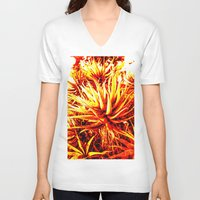 cacti V-neck T-shirts featuring CACTI by Charles Harry Mackenzie