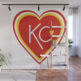KC Love Red & Yellow Wall Mural