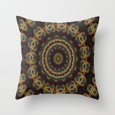 Peacock Velvet Throw Pillow
