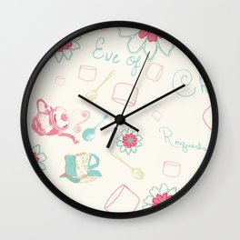 Christmas Tea Party: Candy Cane Mint Wall Clock