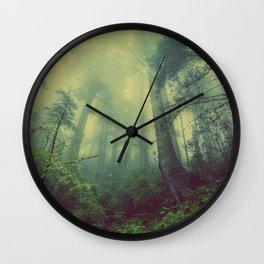 Forest Wallpaper Wall Clock