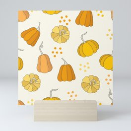 Orange and Yellow Pumpkins Mini Art Print