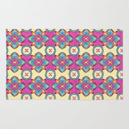 Lily Pulitzer Inspired Spanish Tiles Pattern Rug