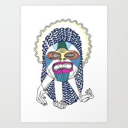 Prismatic Perspectives: Cactus Cackle Art Print