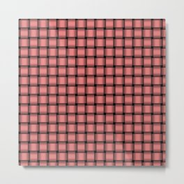 Small Pastel Red Weave Metal Print