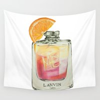 perfume Wall Tapestries featuring Perfume Cocktail, no.2 by shaylenereynolds