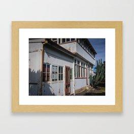 Weathered White Building Framed Art Print
