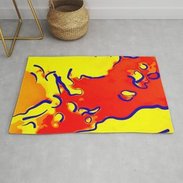 spotted abstract line art 2 absbry Rug