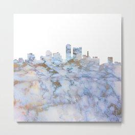 Adelaide City Skyline Metal Print