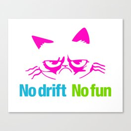 No drift No fun v4 HQvector Canvas Print