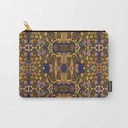 Indian Summer, Bohemian Arabesque Pattern, Golden Yellow Carry-All Pouch