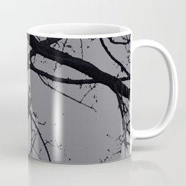 Happy Halloween spooky tree, black and gray Coffee Mug