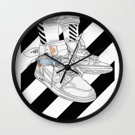 Jordan 1 Off White Poster Wall Clock