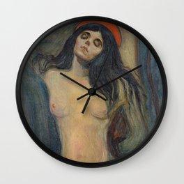 "Edvard Munch ""Madonna"", 1894 Wall Clock"