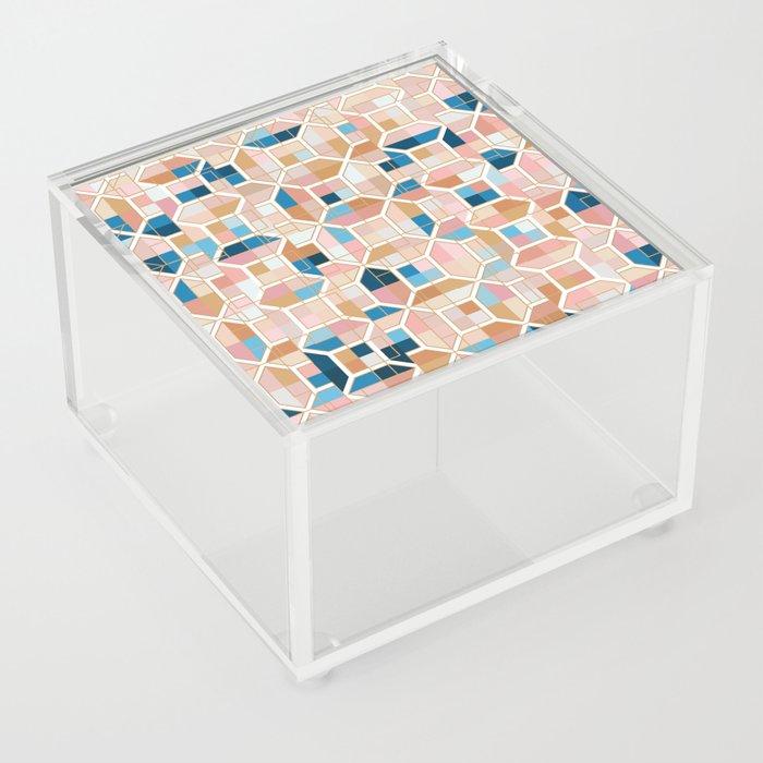 Mediterranean Geometric Shapes I. Acrylic Box