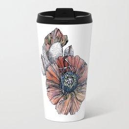 Poppy Flowers Travel Mug
