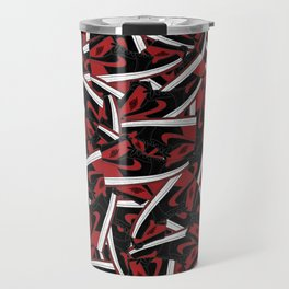 Air Jordan 1 Bred - Collage Print Travel Mug