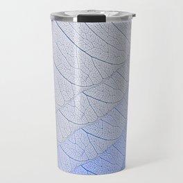Leaves Blue Travel Mug