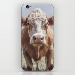 Animal Photography | Cow Portrait Photography | Farm animals iPhone Skin
