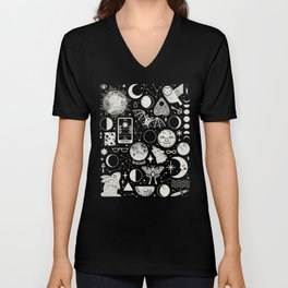 Lunar Pattern: Eclipse Unisex V-Neck