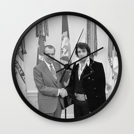 Elvis Meets Nixon Wall Clock