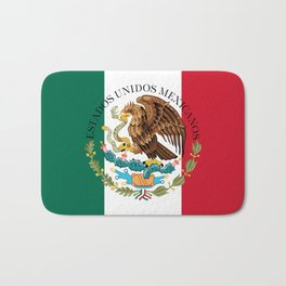 Mexican National Coat of Arms & Seal (HQ image) Bath Mat