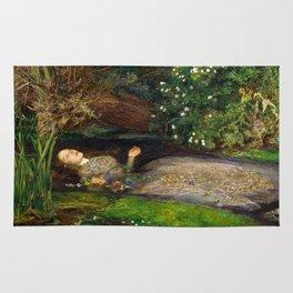 Ophelia Painting by John Everett Millais Rug