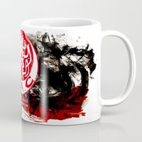 casablanca Mugs featuring WAC Wydad Casablanca by Genco Demirer