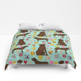 Chocolate lab emoji labrador retrievers dog breed Comforters