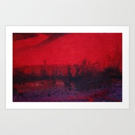 Evening in the Bushes Art Print