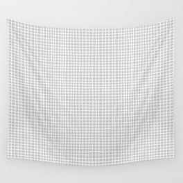 Light Grey Grid Wall Tapestry