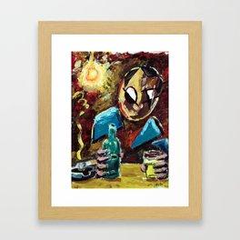 A Man in the Bar Framed Art Print