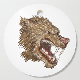 Head with sharp teeth Cutting Board