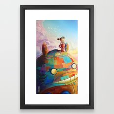 MEI and TOTORO Framed Art Print