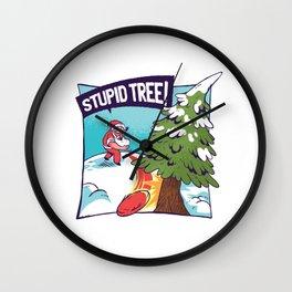 Funny Christmas t-shirt Santa Claus Reindeer  Wall Clock