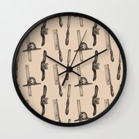 tool Wall Clocks featuring Tool Pattern by Jessica Roux