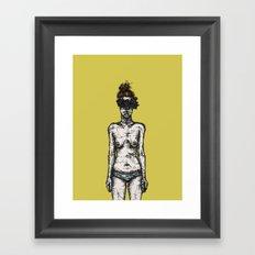 Tumor Face Framed Art Print